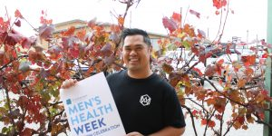 Eric on a mission in Men's Health Week
